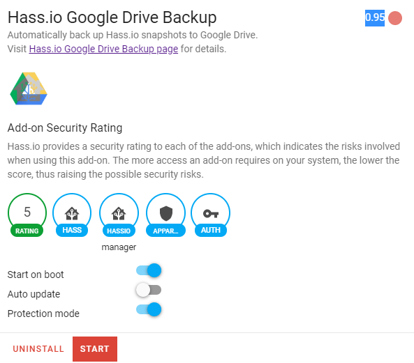 Hassio Google Backup