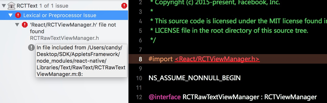 Use react-native as a framework on iOS about archive problem