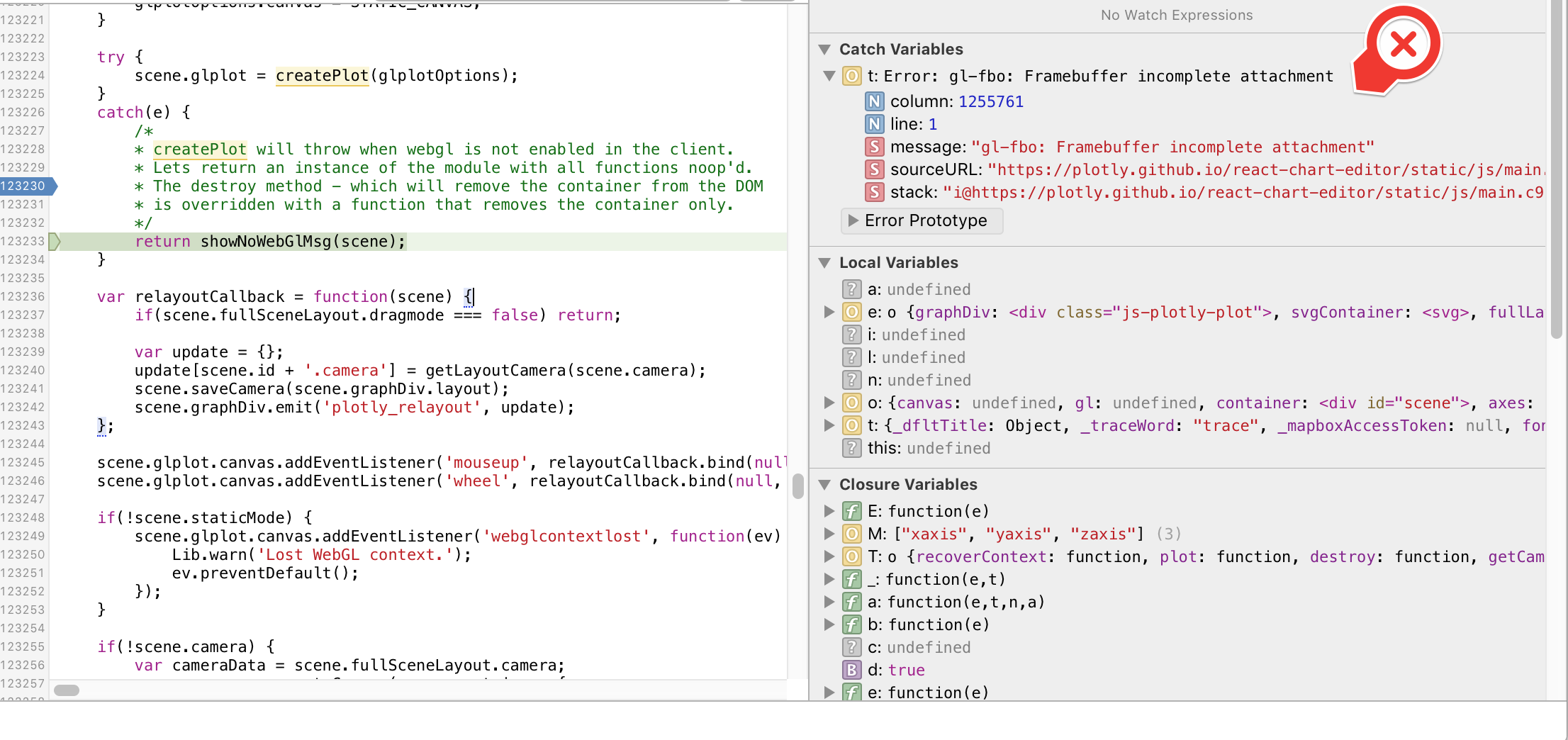 WebGL visualisations not rendering on iOS · Issue #280 · plotly