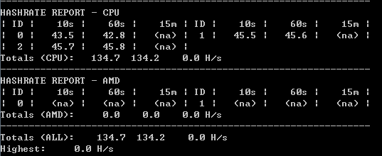 GPU reports a hashrate of zero with Win 7 installed through