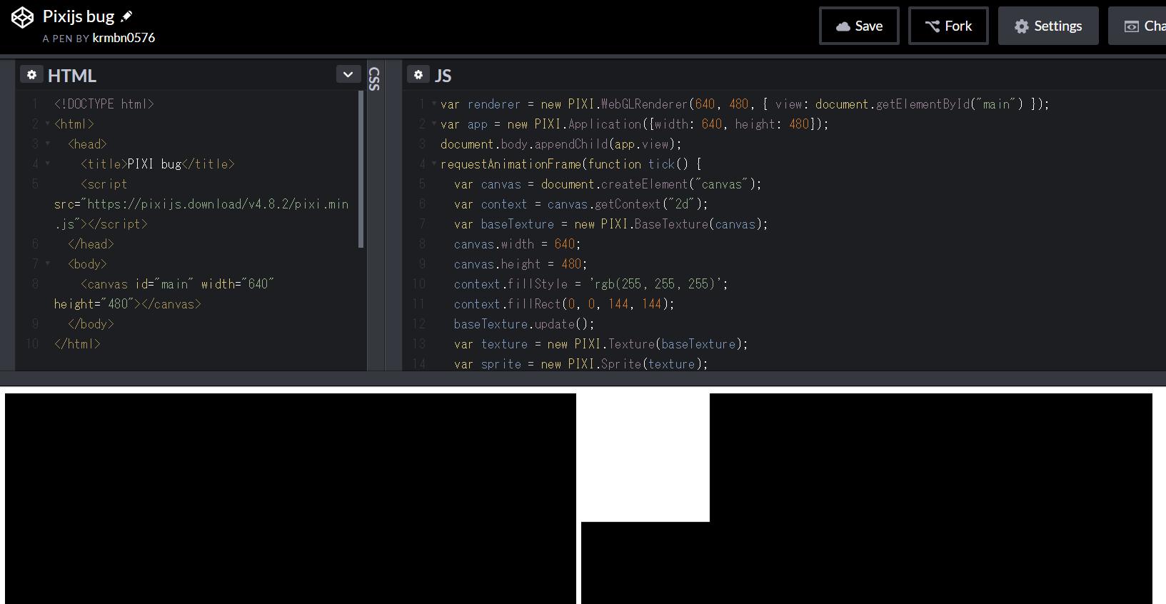 BUG] WebGLRenderer cannot draw BaseTexture correctly on