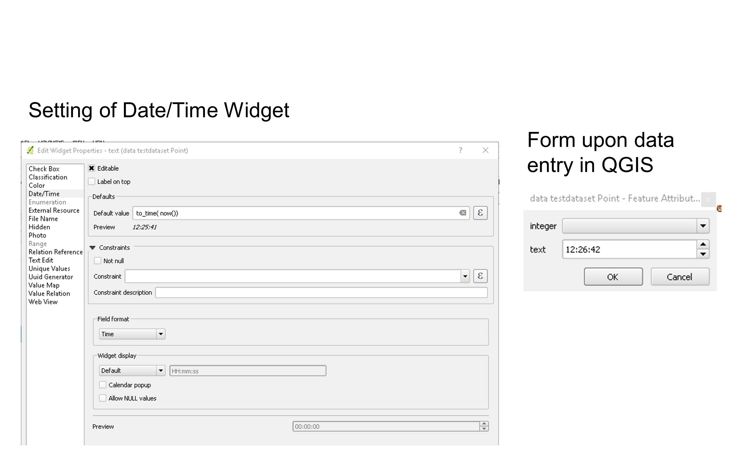 Support for time · Issue #183 · opengisch/QField · GitHub