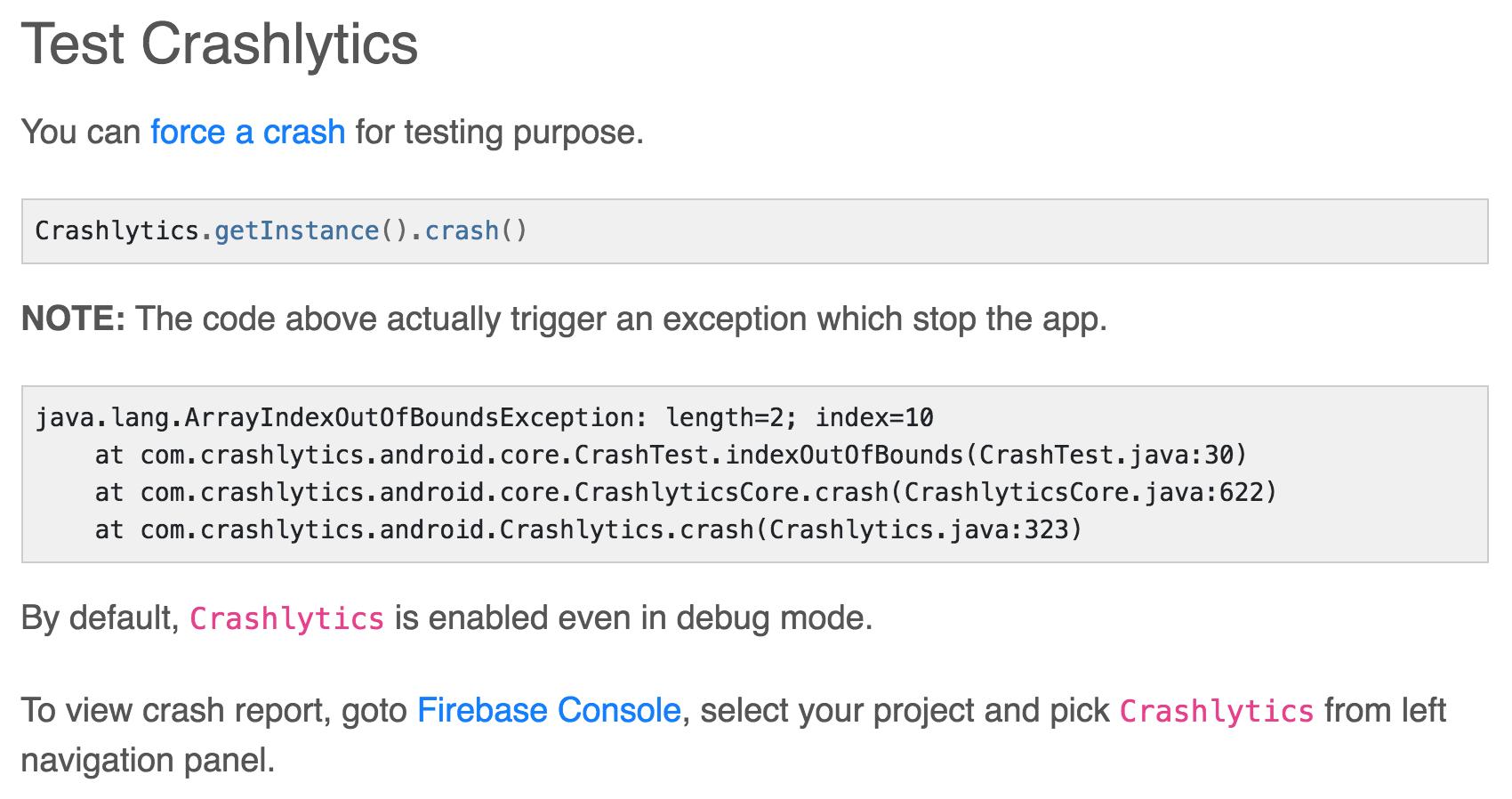 Android] firebase crashlytics() crash() · Issue #1636 · invertase