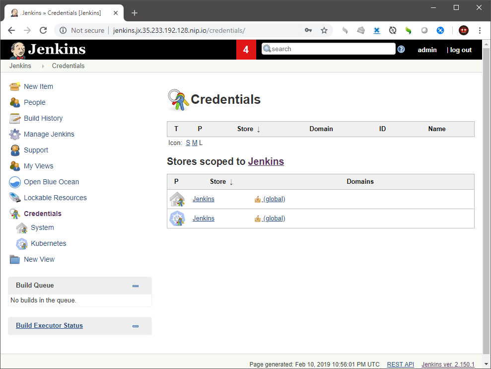 Bug: missing Jenkins secrets when jx create cluster gke with