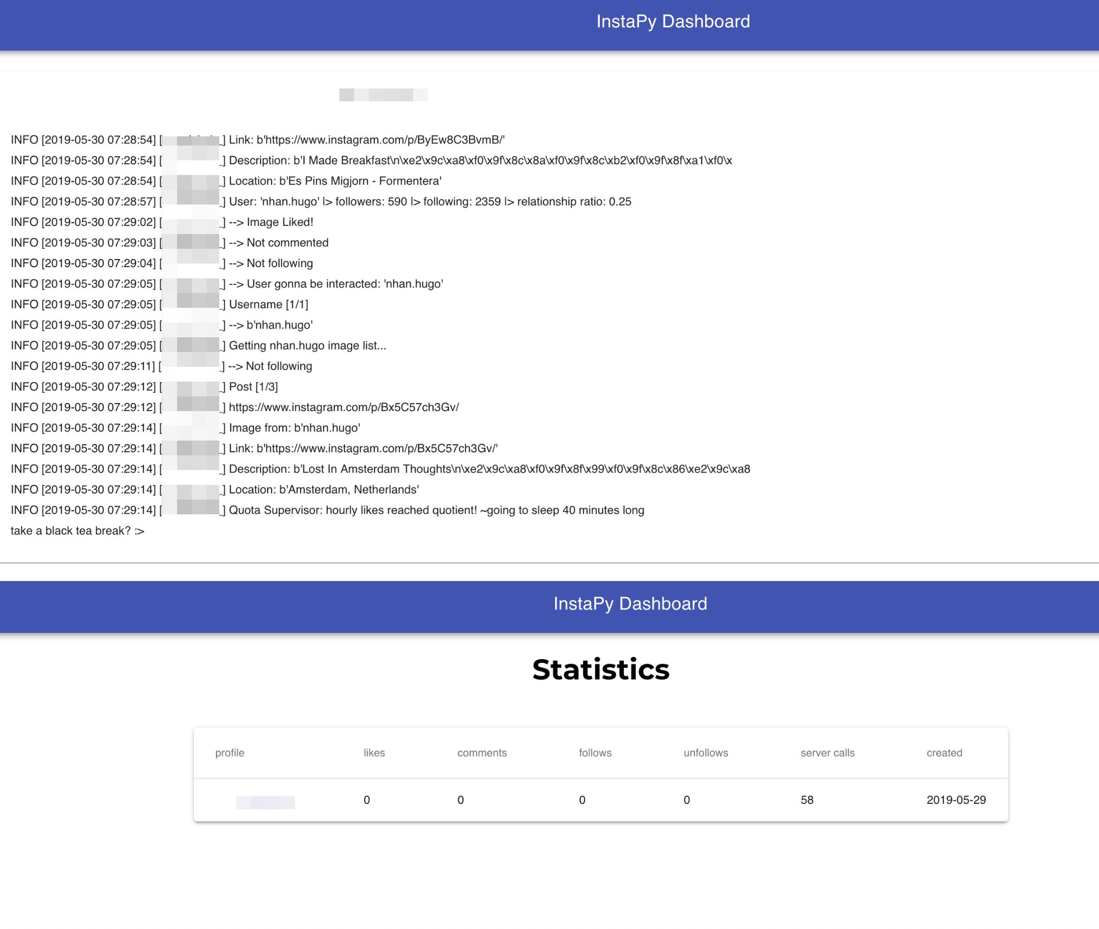 instapy-dashboard - Bountysource