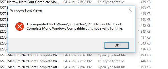 Installation denied because of invalid fonts · Issue #196