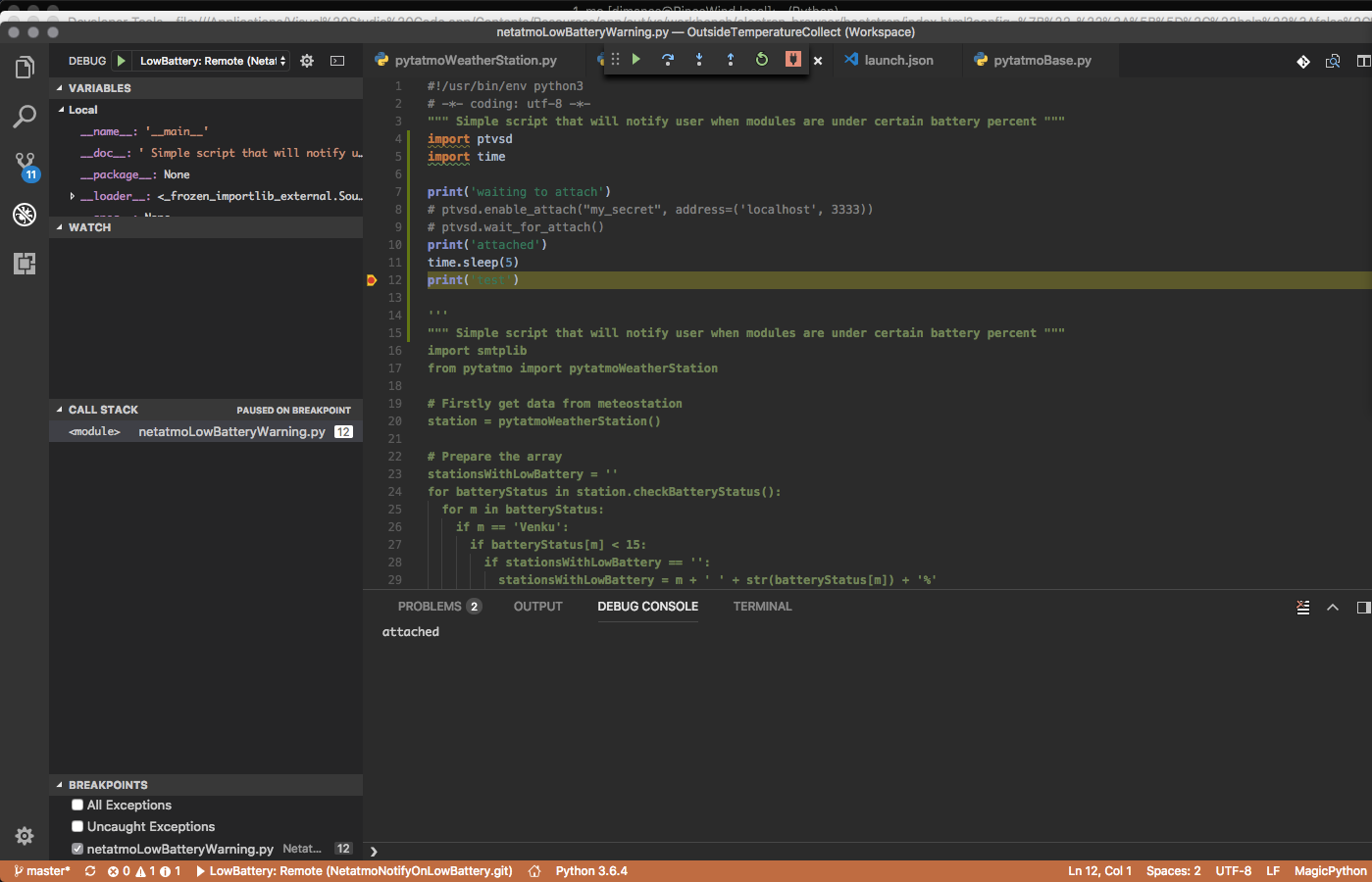 VSCode remote debug not working on MacOS · Issue #819 · microsoft