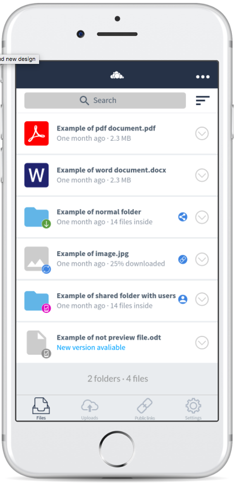 Design] File List UI review proposal · Issue #927 · owncloud/ios