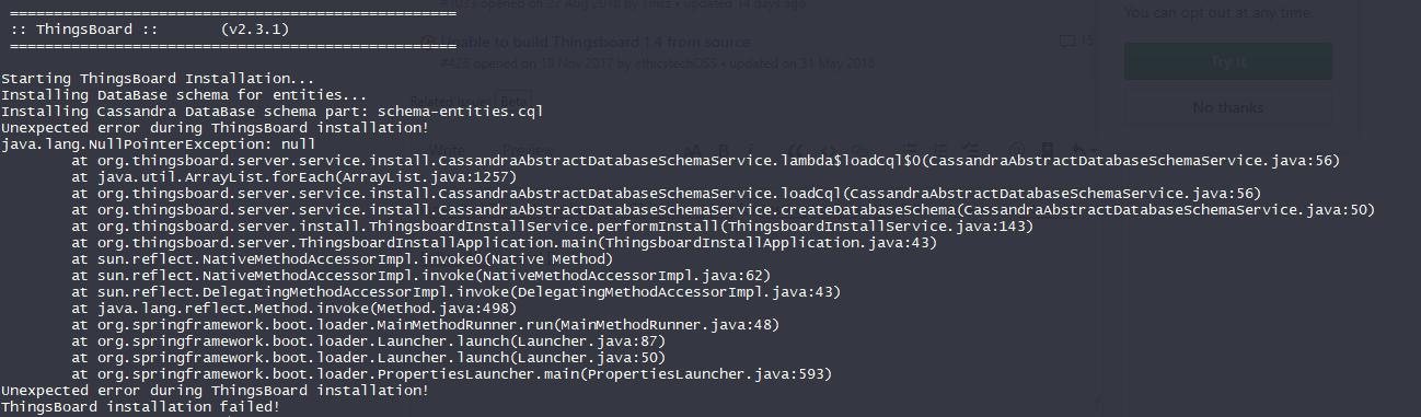 Error installing ThingsBoard with cassandra Ubuntu · Issue