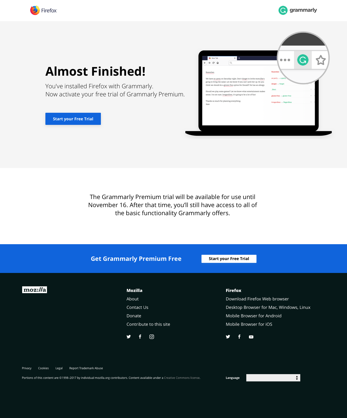 Go live mid Feb (19) 2019] Grammarly Bundle support (landing page