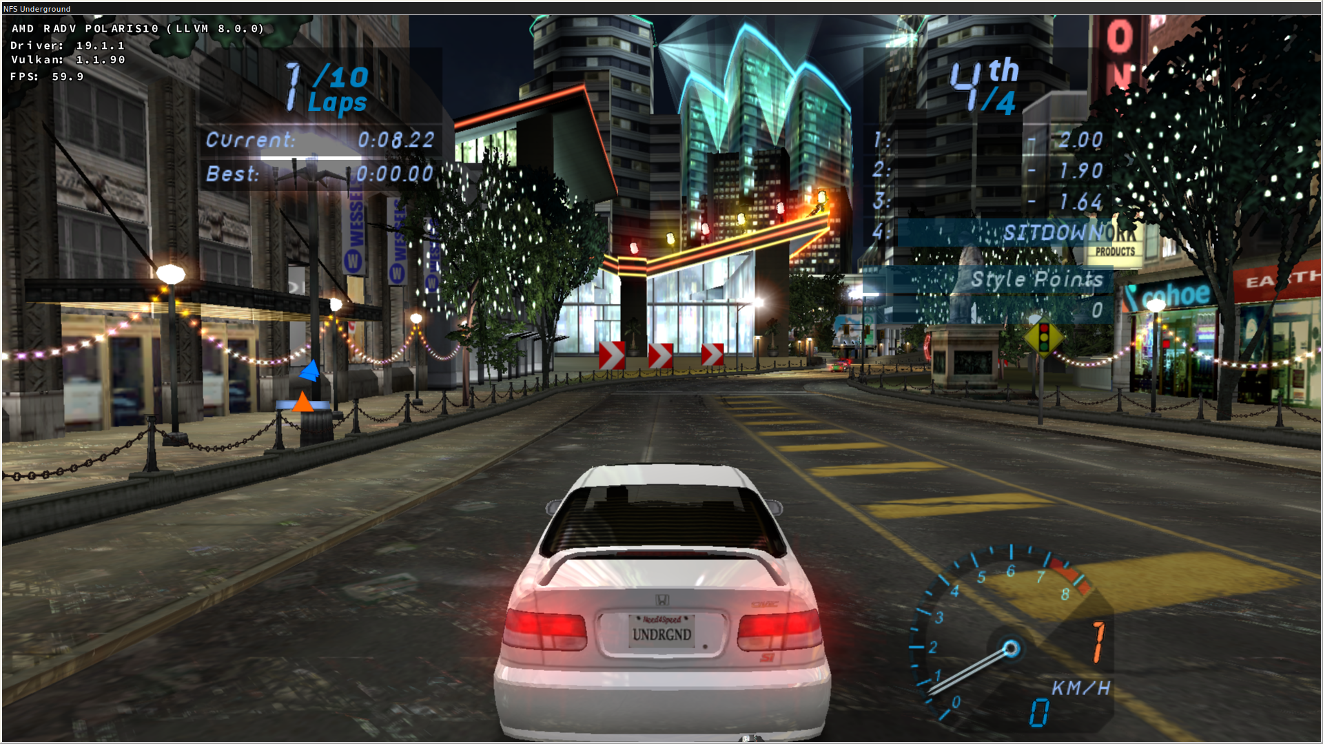 Need for Speed Underground: Artifacts on reflections, visible window