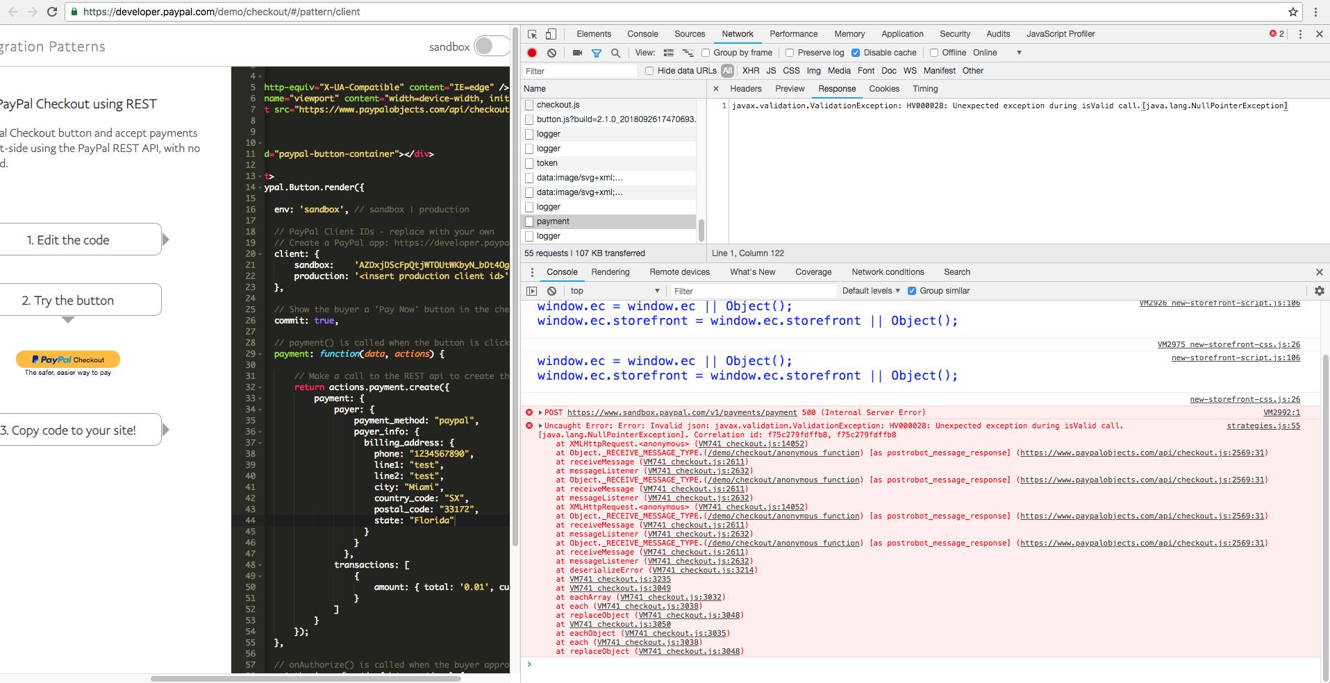 javax validation ValidationException: HV000028: Unexpected exception