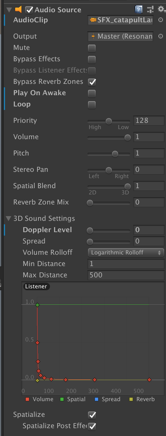Idle / stopped sounds cause audio listener rotation to stop
