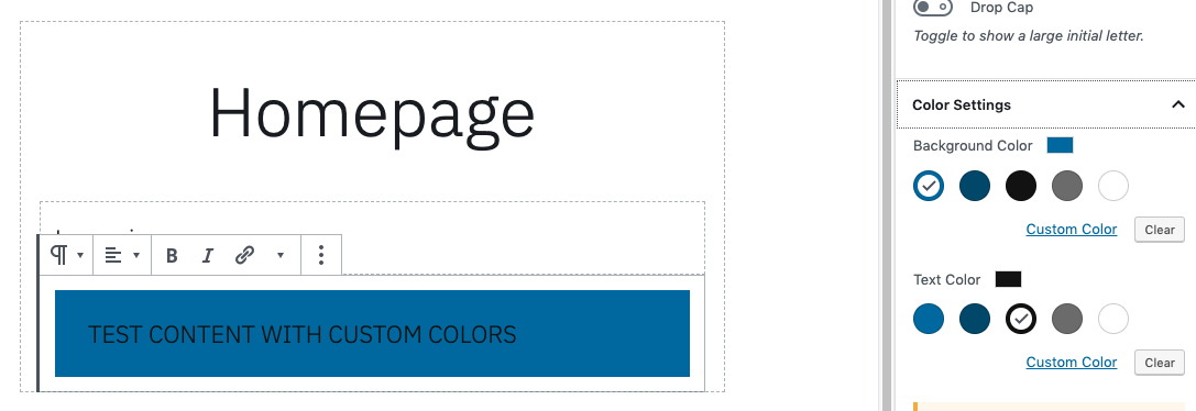 Business themes: Missing editor palette in functions php