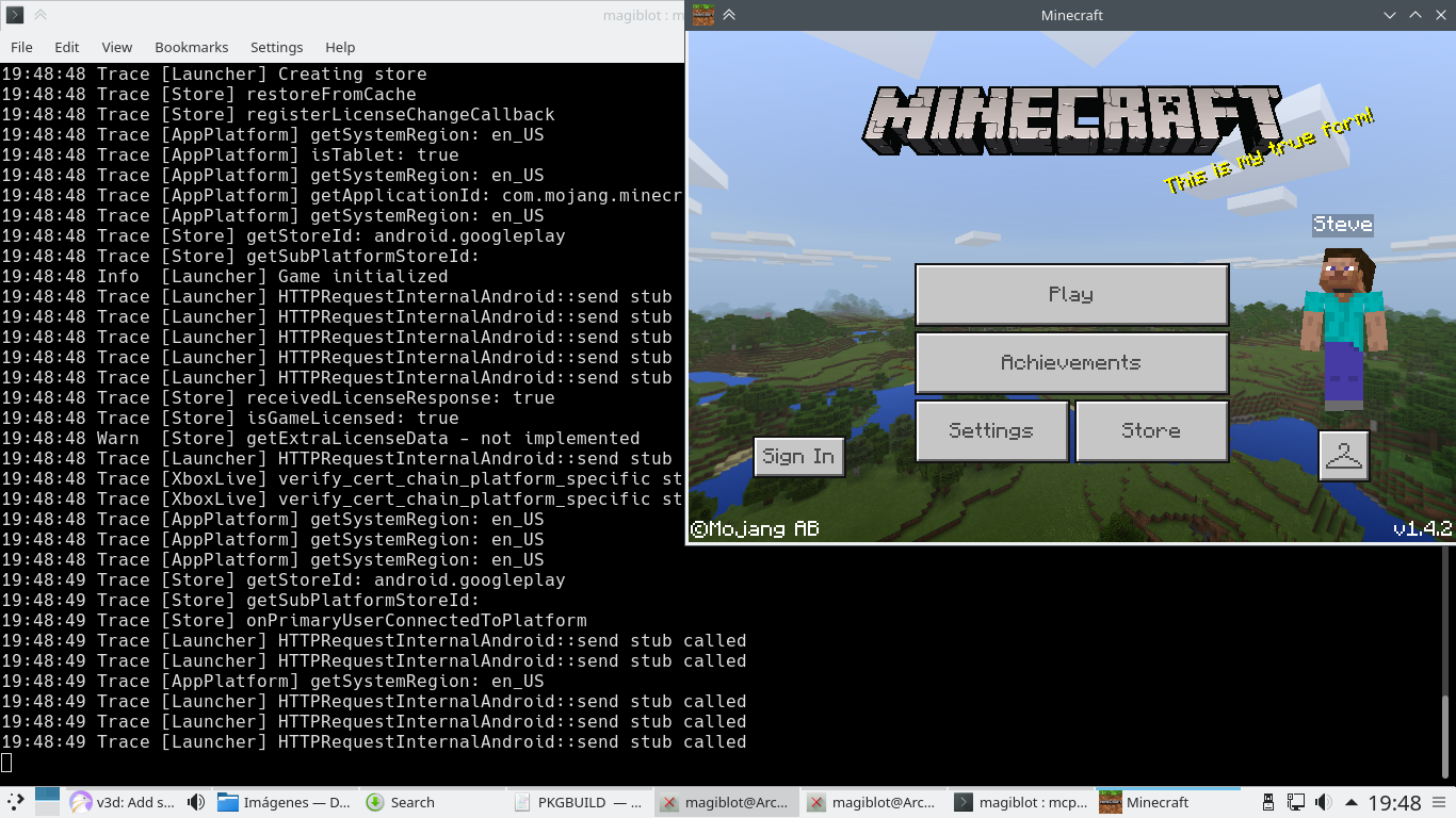 Black screen on Arch Linux · Issue #45 · minecraft-linux