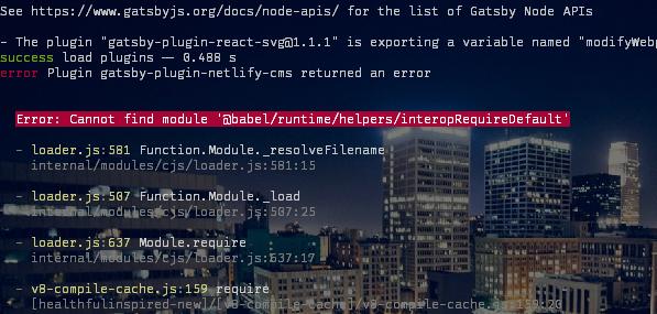 gatsby-plugin-netlify-cms error transitioning to v2 (Cannot find