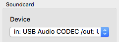 Sound card device macOS