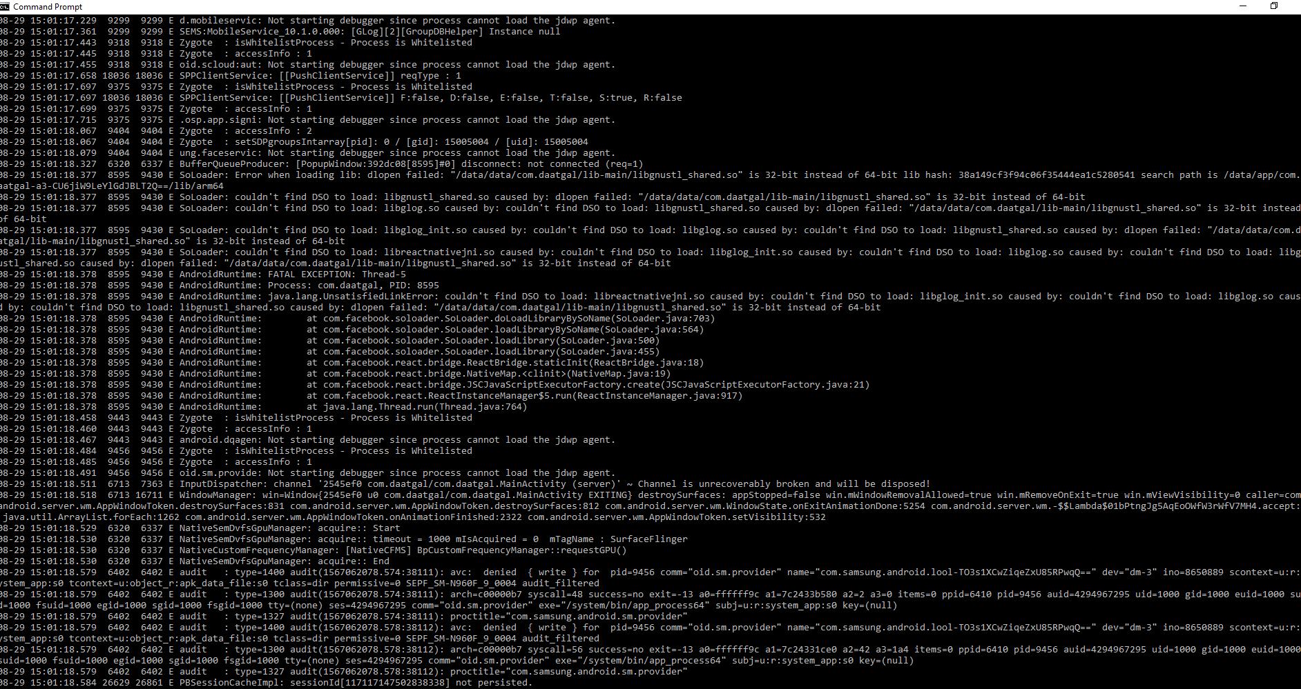 Release APK crash immediately on launch - React Native