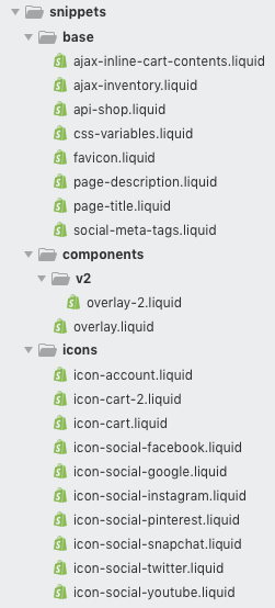 Allow code to be organized in subfolders in `src/snippets