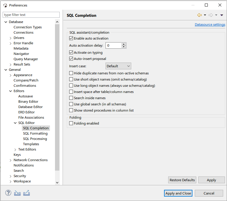 MS SQL Server Autocompletion removes 'dbo' schema · Issue