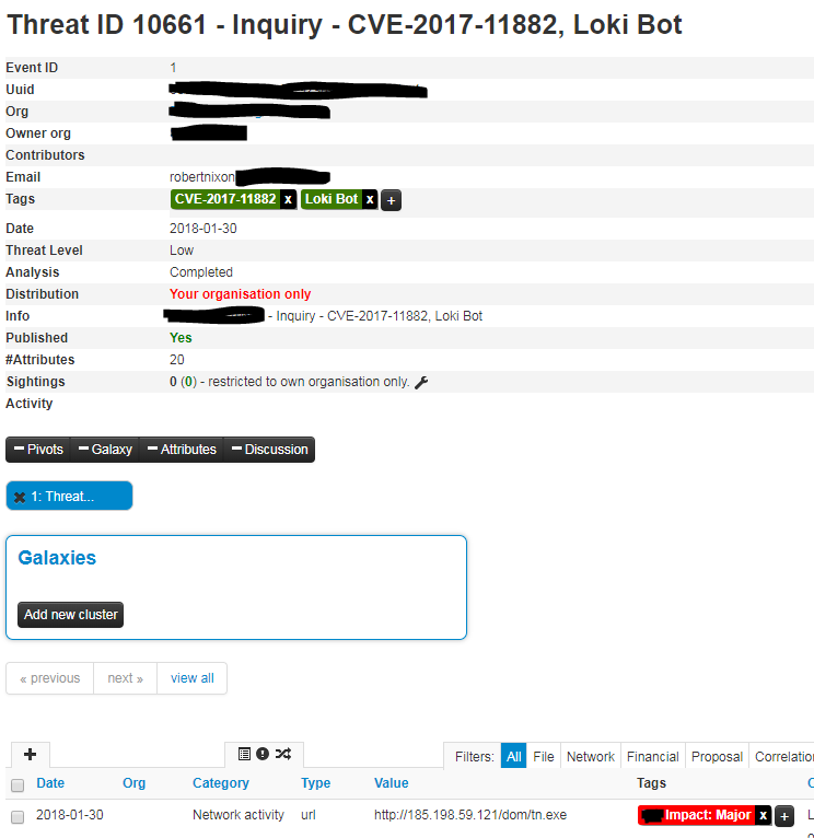 MISP Analyzer Tag and Sightings pull · Issue #175 · TheHive