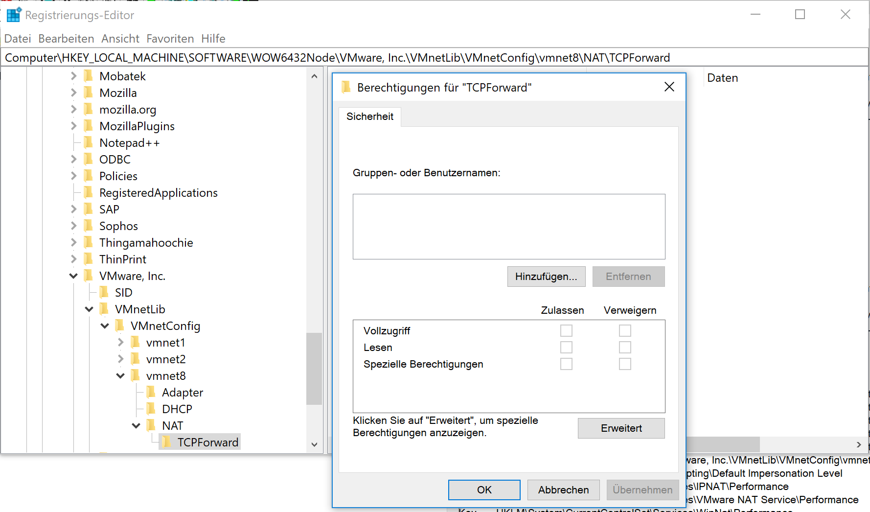 vagrant 2 0 1, VMware 14 1 0: Failed to add NAT port entry: Zugriff