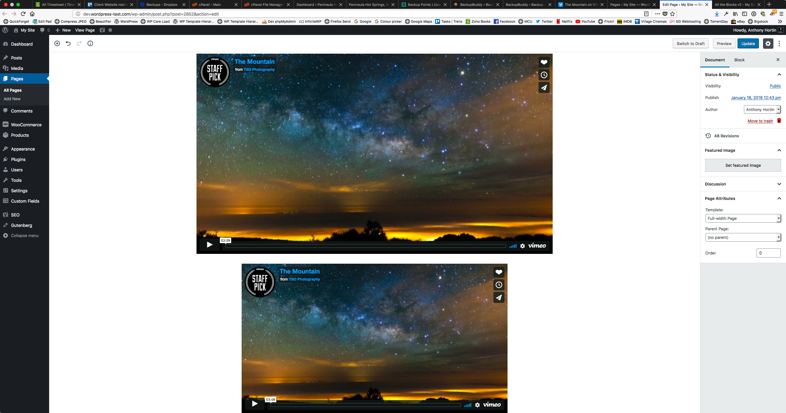 Can't style embedded videos properly due to inline width
