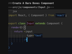 Html tags split over multiple lines and React jsx break