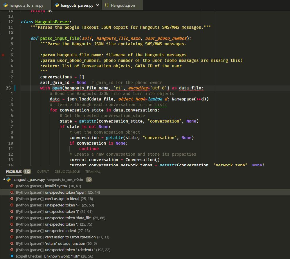 unexpected token 'open' · Issue #2210 · microsoft/vscode-python · GitHub