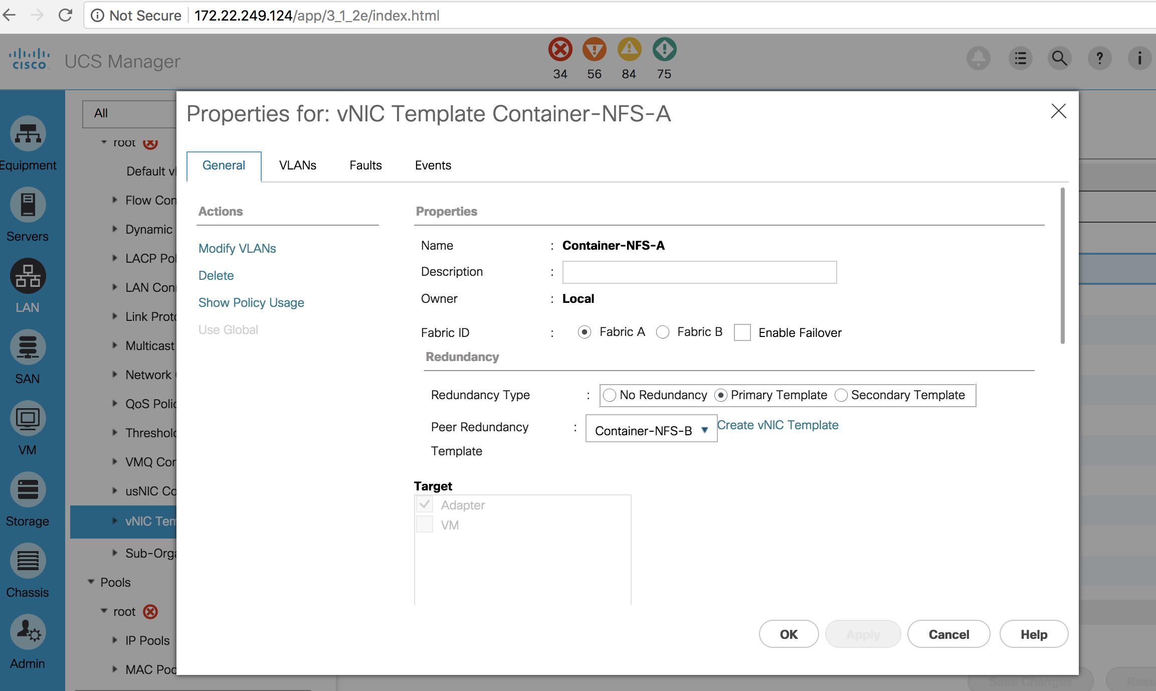 ucs_vnic_template fails with UCS Platform Emulator 3 1 · Issue #76