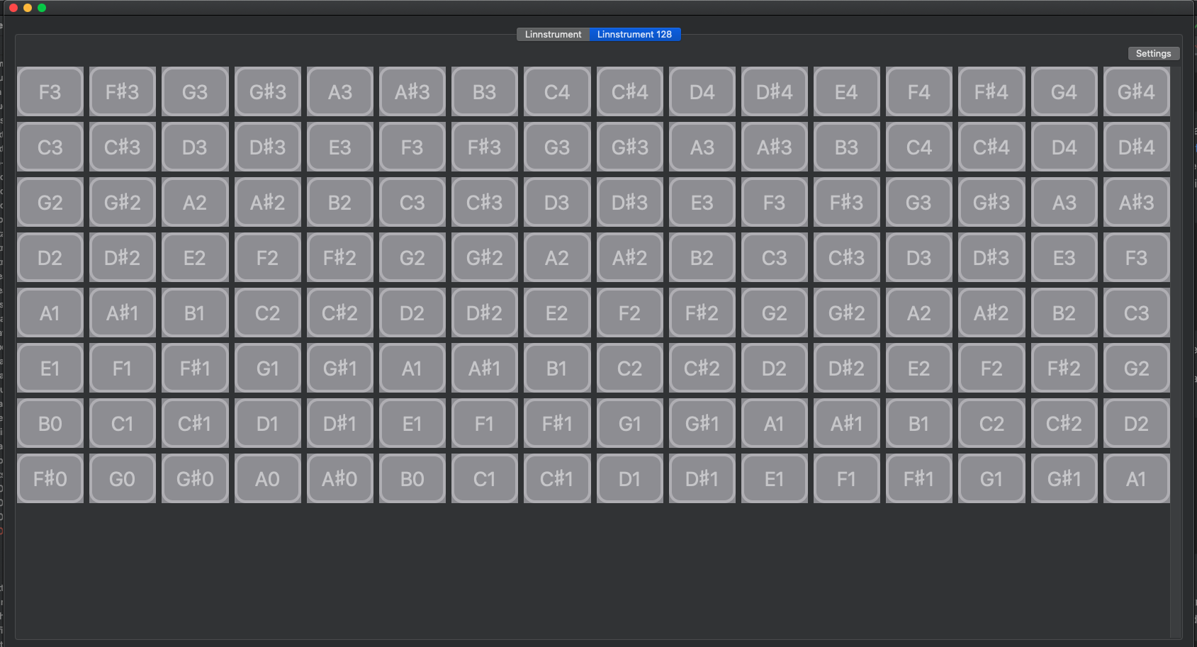 Linnstrument Helper app screenshot