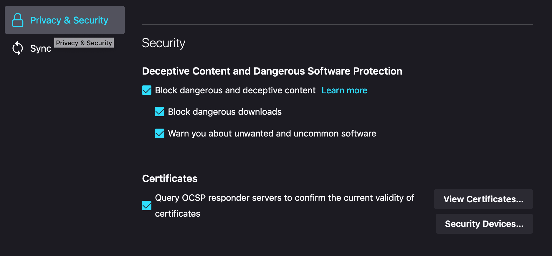 2_privacy_security_view_certificates