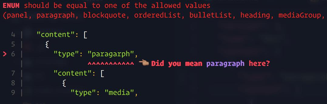 Validating json in javascript something happens
