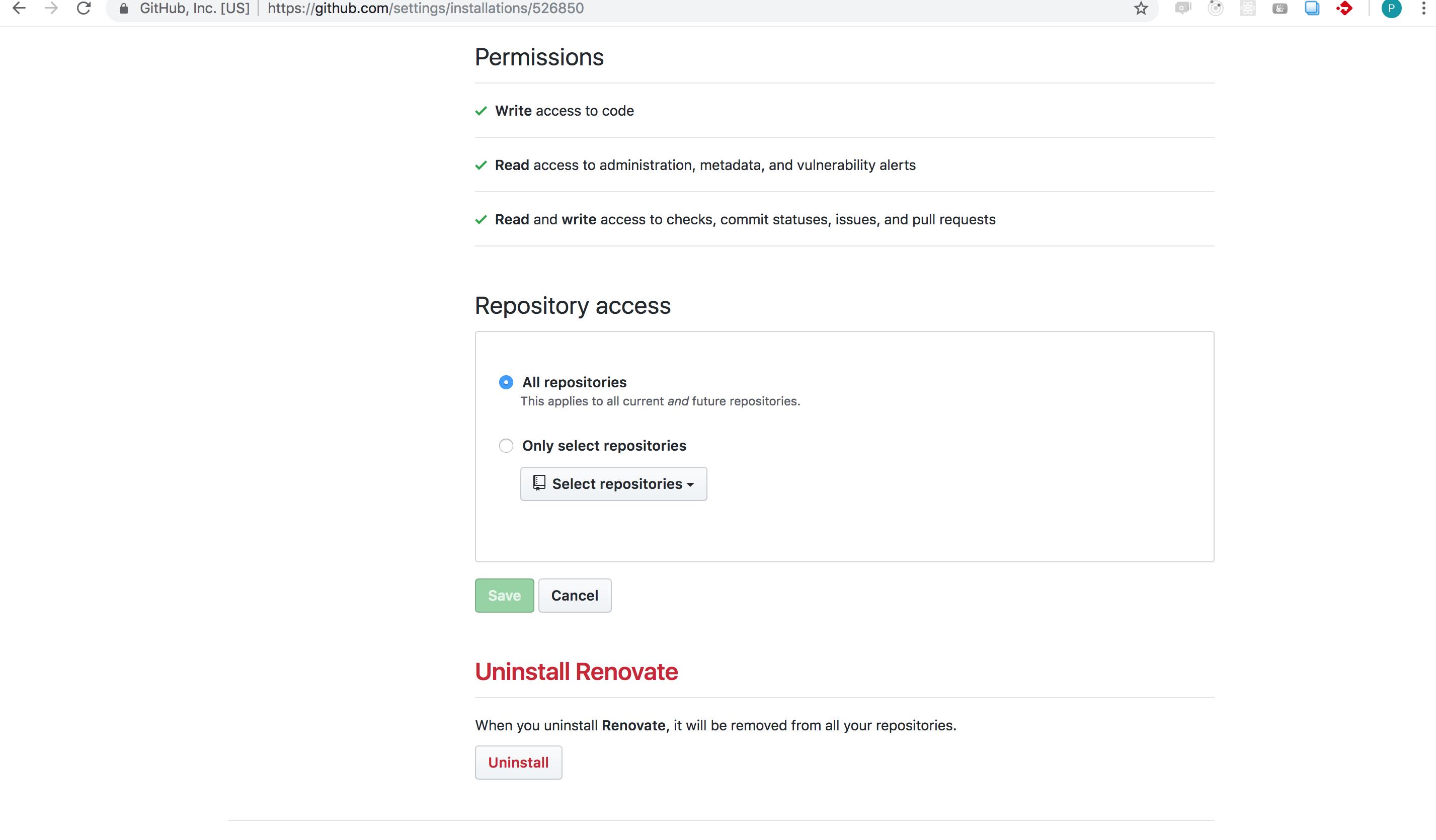 cannot enable renovatebot · Issue #3128 · renovatebot