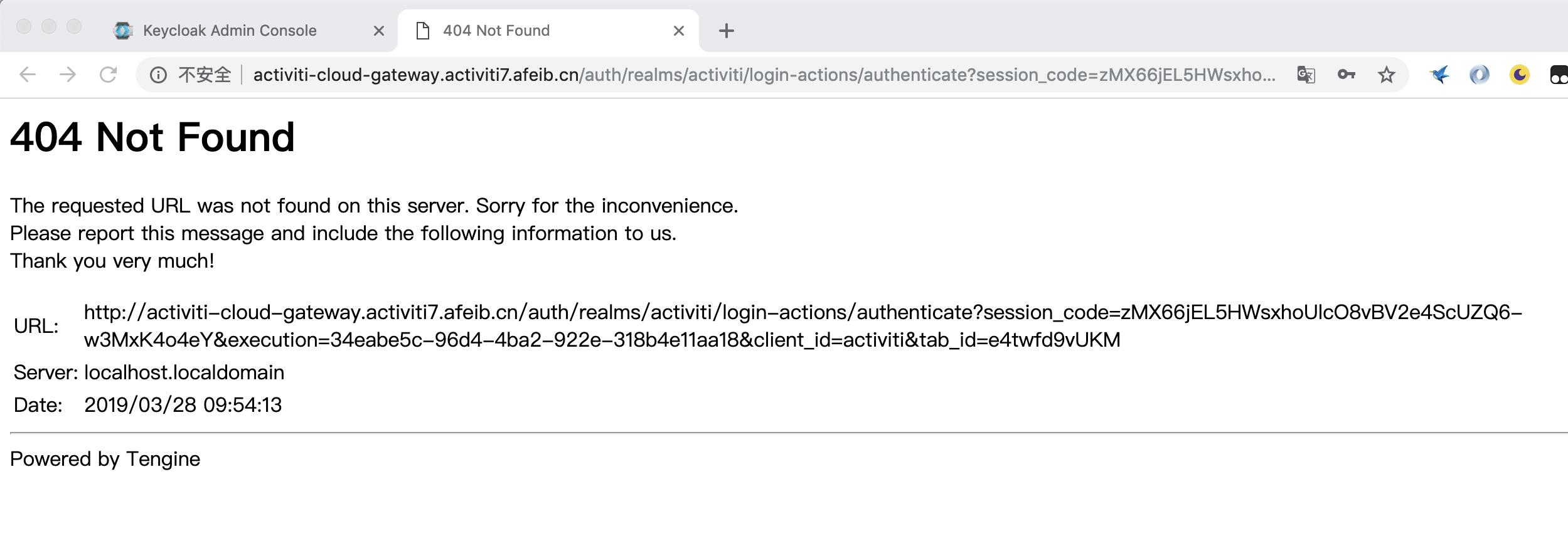 activiti-cloud-full-example report 404 · Issue #2665 · Activiti