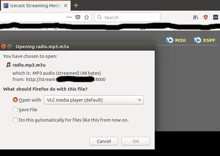 M3U and PLS file association as audio file instead of html