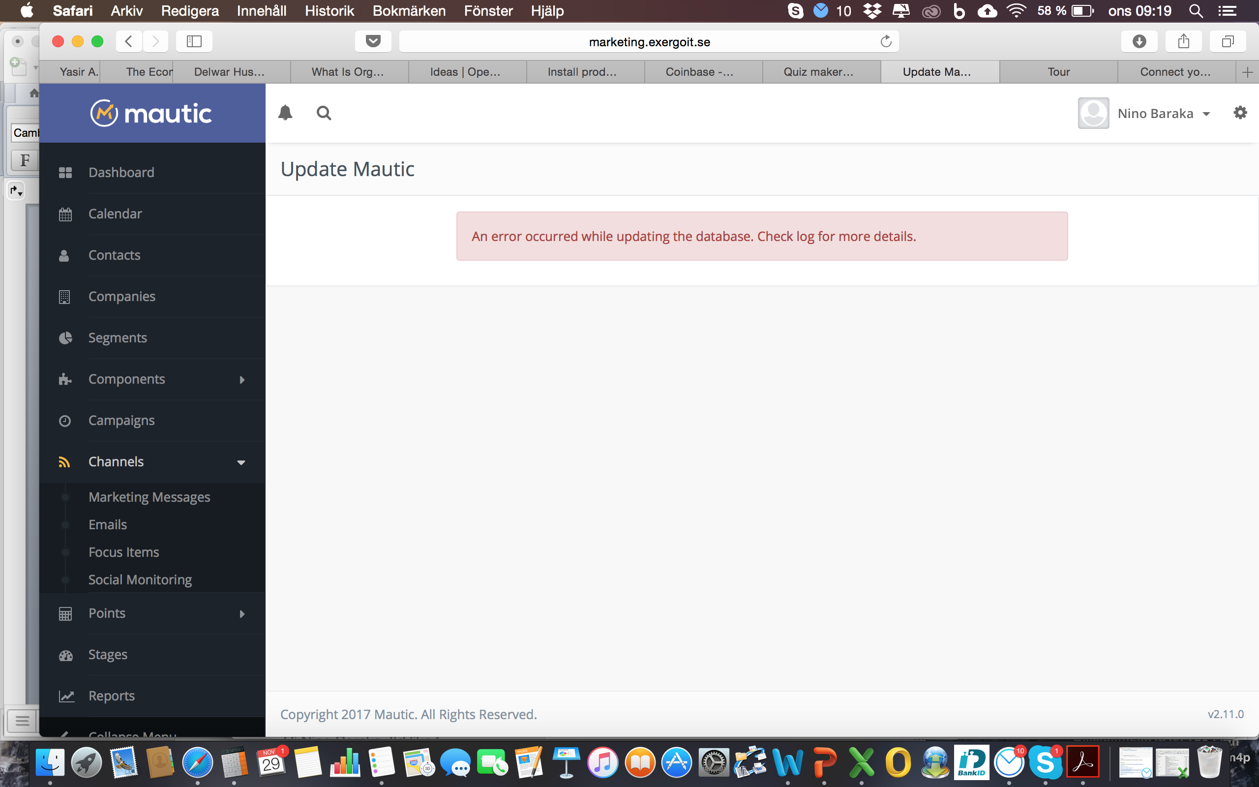 Error after updating Mautic · Issue #5390 · mautic/mautic · GitHub