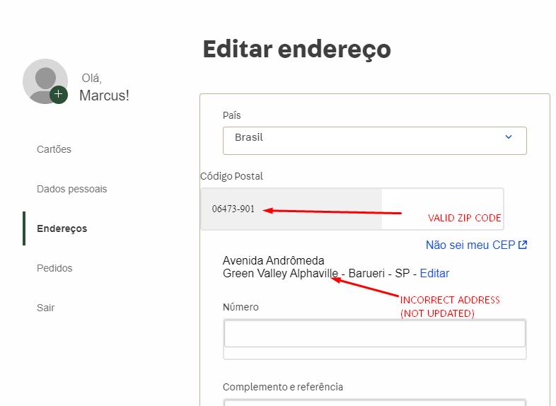 My Account Validate Zipcode Issue