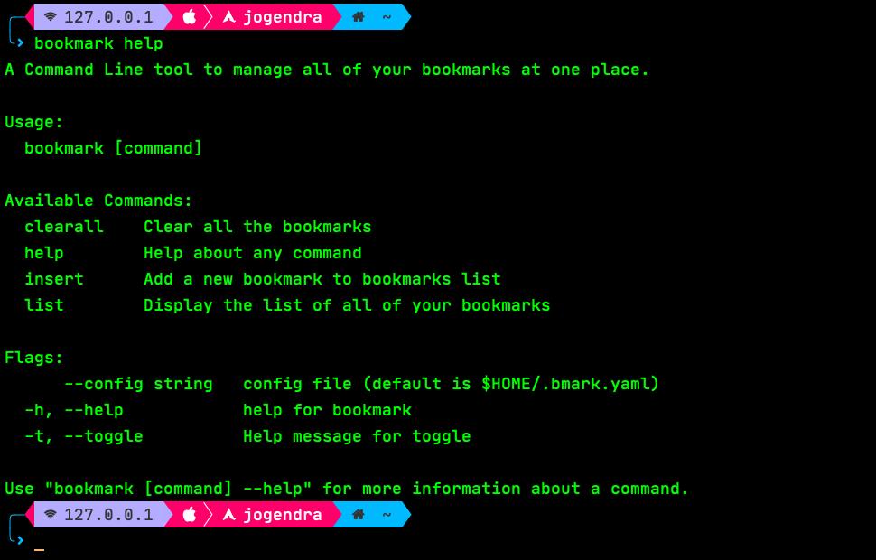 bookmark-cli screenshot