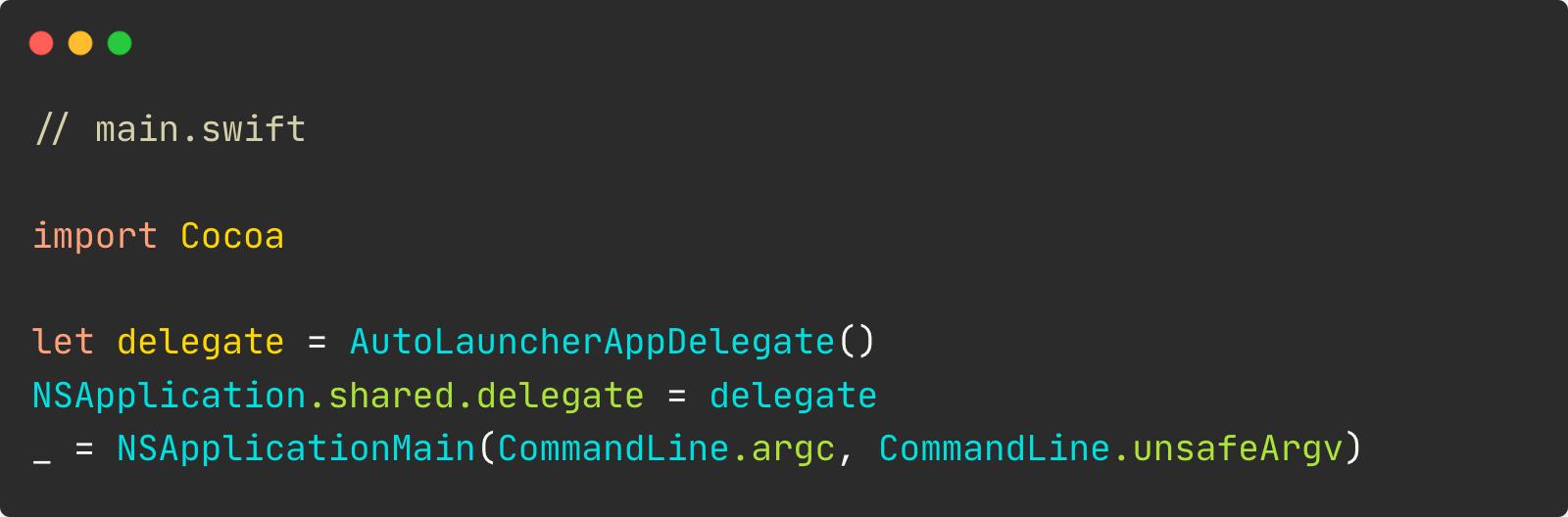 main.swift code