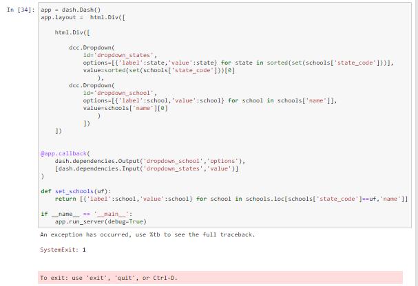 error running in jupyter notebook - SystemExit: 1 · Issue