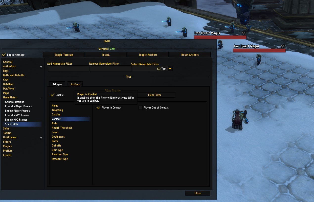 Style Filter In Combat / Out of Combat Bug · Issue #472