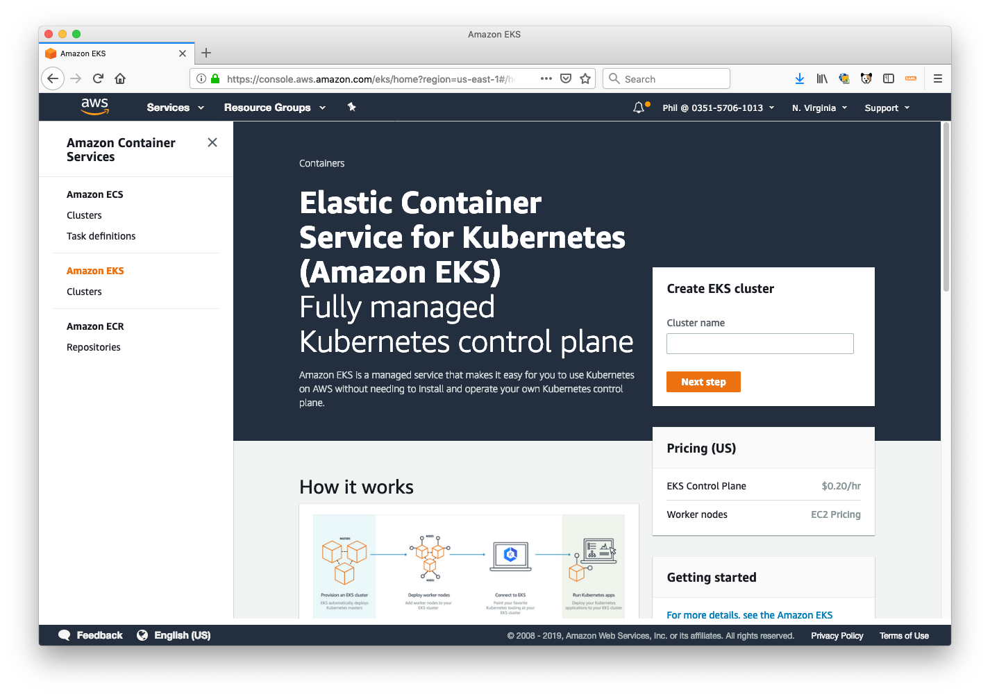 How to run on Elastic Container Service for Kubernetes