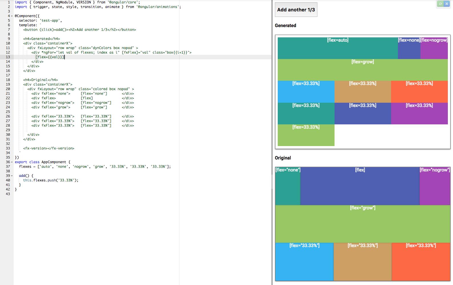 Dynamically insert responsive columns until fills row