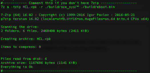 Issues with creating the VPK file with and without 7Zip on Linux or