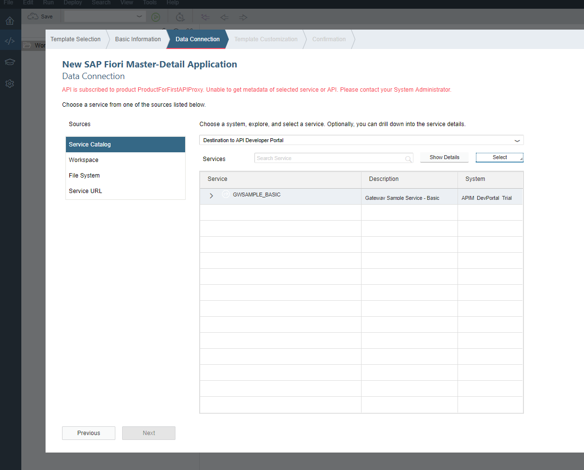 Consume the API Proxy in SAP Web IDE · Issue #2023