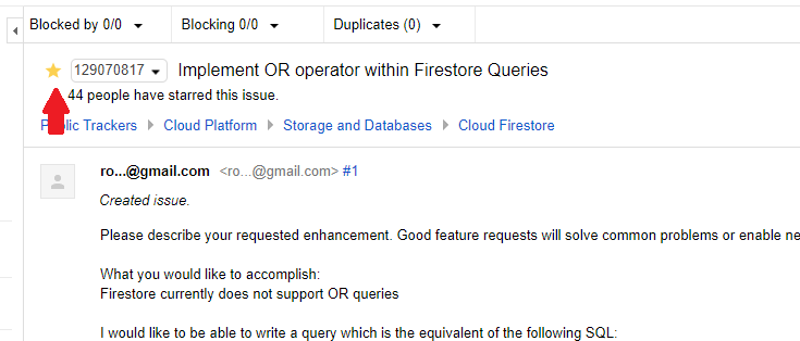 FR: Firestore OR operator in WHERE query · Issue #321 · firebase