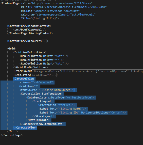 CarouselView : The Type Initializer For 'Xamarin.Forms