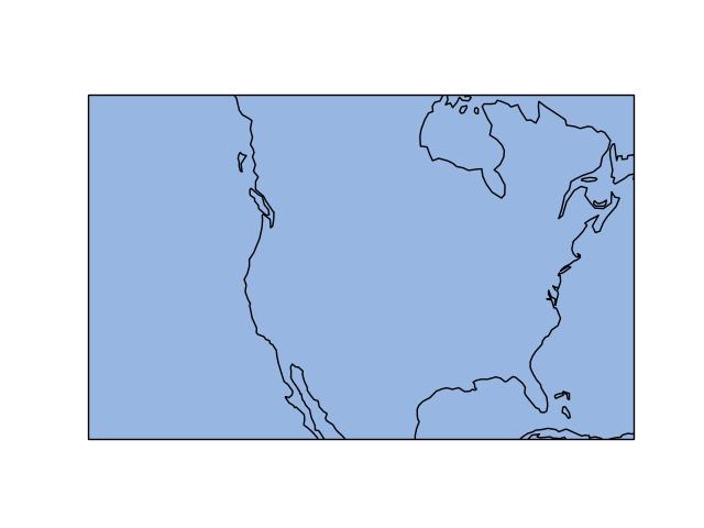 Broken ocean polygon reprojection with