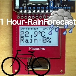 Project local rain forecast for fair weather cyclists at Hackster.io
